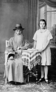 Священномученик Владимир Мощанский с внучкой Ольгой