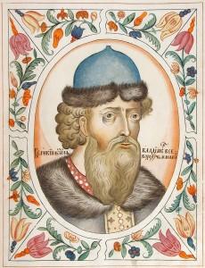 Великий князь Владимир Всеволодович Мономах. Портрет из Царского титулярника. 1672 год.