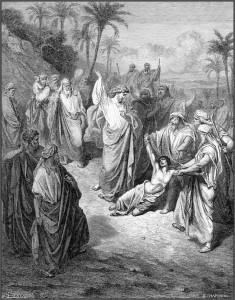 Иисус исцеляет лунатика. Поль Гюстав Доре.