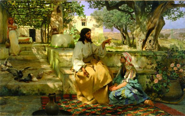 """Генрих Семирадский """"Христос у Марфы и Марии""""."""