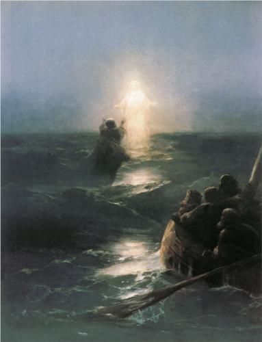 Иван Айвазовский. Хождение по водам. 1888 г.