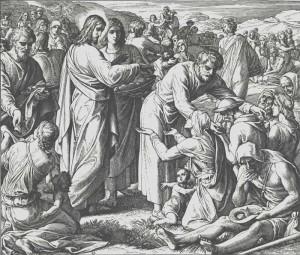 Юлиус Шнор фон Каросфельд. Насыщение пяти тысяч, 1860.