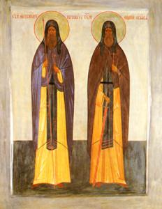 Икона Пересвет и Ослябя