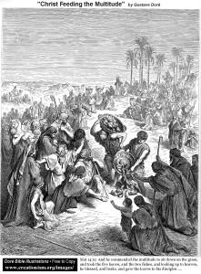 Поль Гюстав Доре. Христос насыщает голодных.