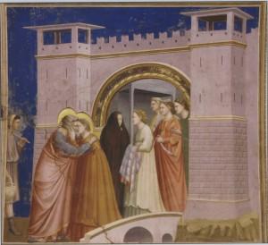 Встреча Иоакима и Анны у Золотых ворот. Фреска Джотто. Около 1305