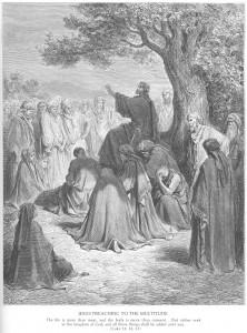 Гюстав Доре. Иисус Христос проповедует народу.