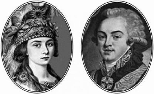 Николай Шереметев и Прасковья Жемчугова
