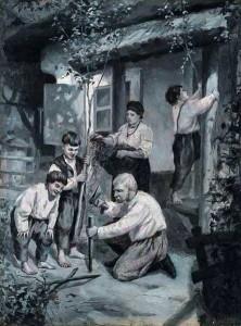 Ткаченко_Накануне-Троицы_1903