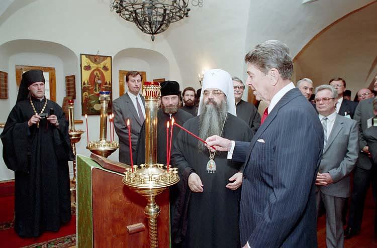 Рональд Рейган в Даниловом монастыре