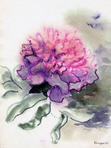 450px-Peony_(watercolor_painting)