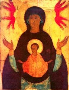 """Икона Божией Матери, именуемая """"Знамение""""."""
