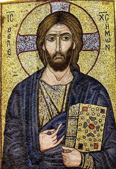 Мозаичная икона Спасителя.