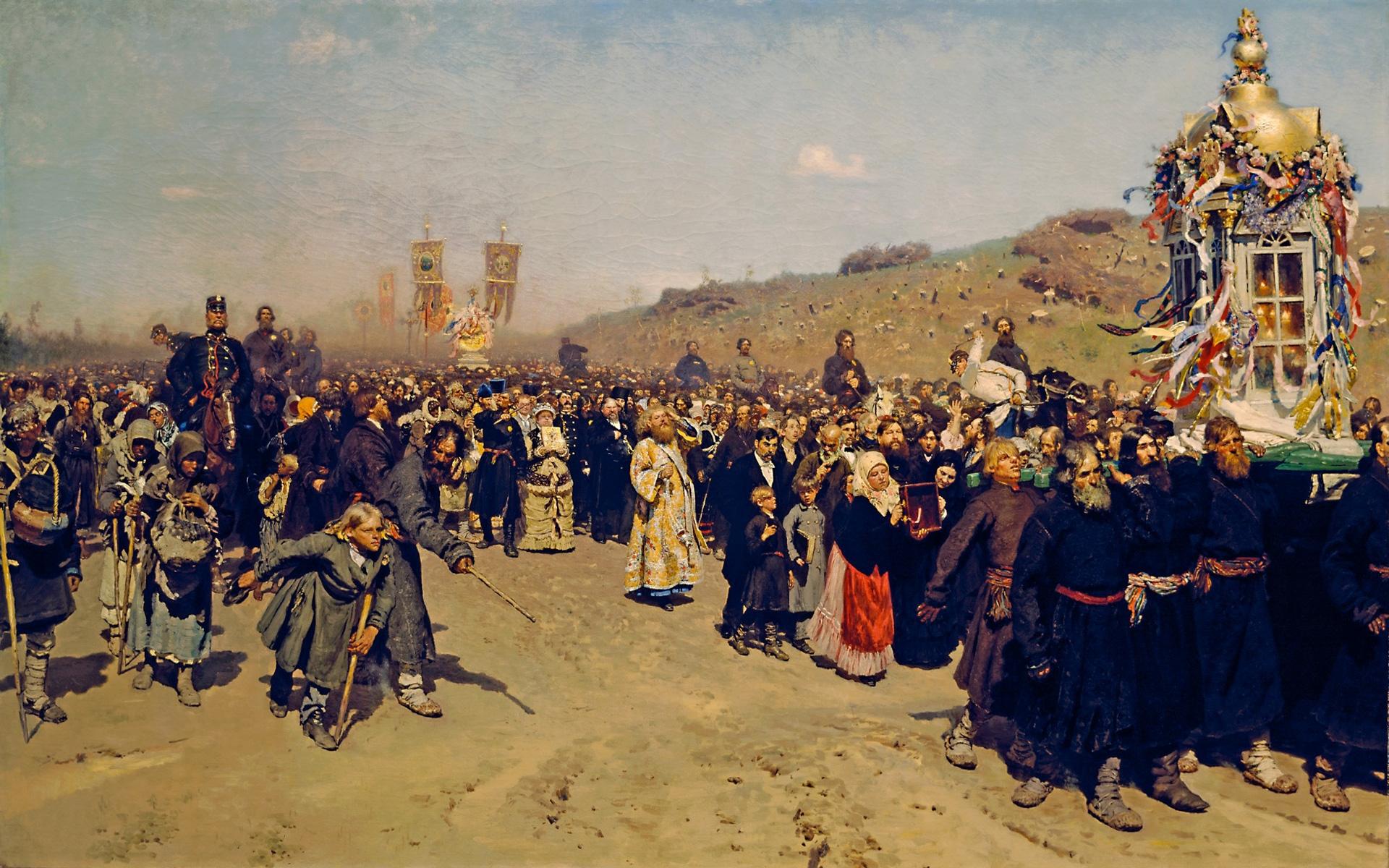 Илья Ефимович Репин.Крестный ход в Курской губернии. 1880-83.