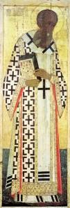 Григорий Богослов (Андрей Рублёв, иконостас Успенского собора во Владимире, 1408)