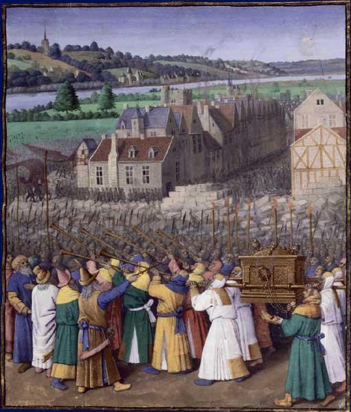 Взятие Иерихона. Жан Фуке (1420–1480).
