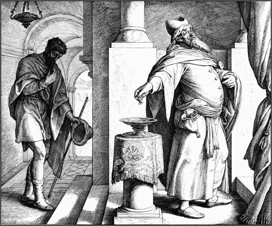 Юлиус Шнорр фон Каросфельд. Фарисей и мытарь.