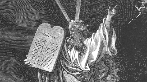 Поль Гюстав Доре. Моисей со скрижалями Завета.