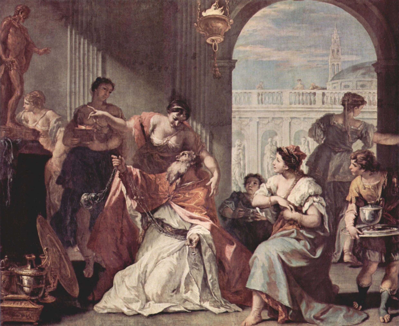 Соломон покланяется кумиру. Себастьяно Риччи.