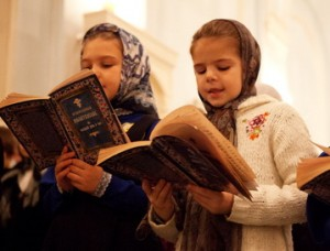 Дети в церковном хоре