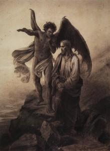 Искушение Христа. Василий Иванович Суриков. 1872.