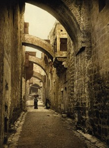 Jerusalem, Via Dolorosa / Photochrom - Jerusalem, Via Dolorosa / Photochrome - Jerusalem, Via Dolorosa / Autochrome