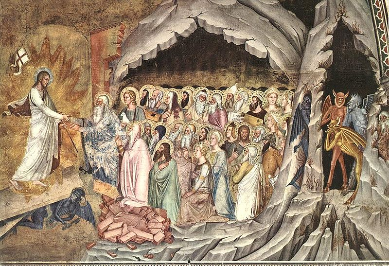 Сошествие Христа во ад. Андреа Бонайути. XIV век.