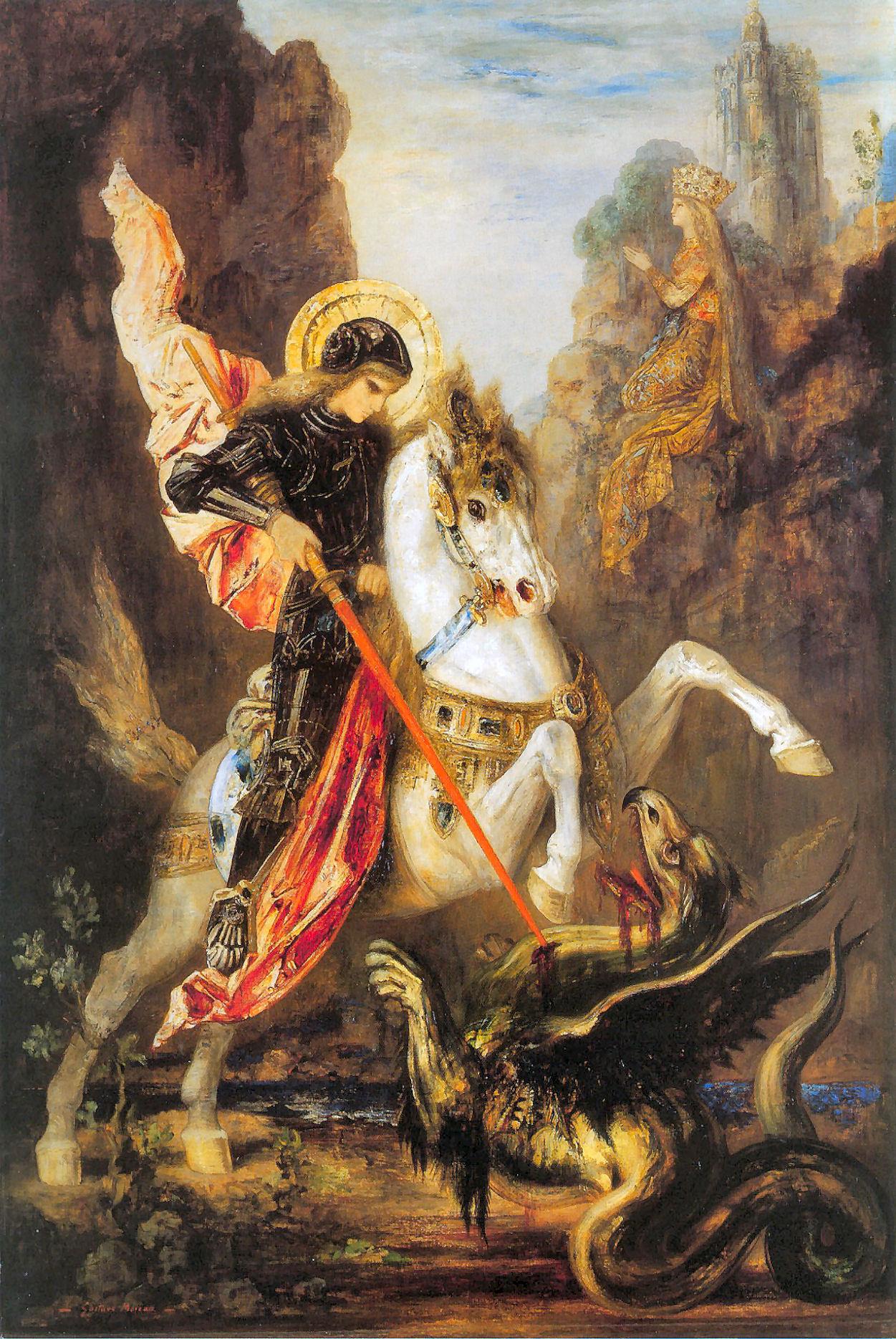 Гюстав Моро - 1890. Святой Георгий и дракон.