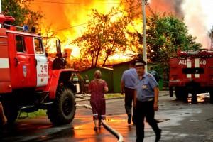 Дело дня. Борьба с огнём и помощь погорельцам.
