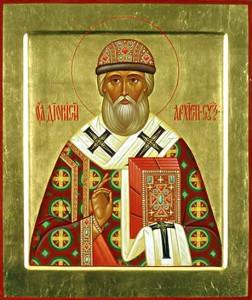 Образ святителя Дионисия, епископа Суздальского.