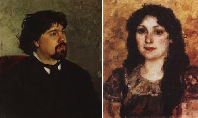 Василий Суриков и Елизавета Шаре