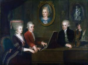 Леопольд и Вольфганг Моцарт, мать Вольфганга