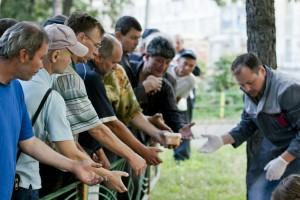 Проект помощи бездомным «Пельмешки на Плешке»