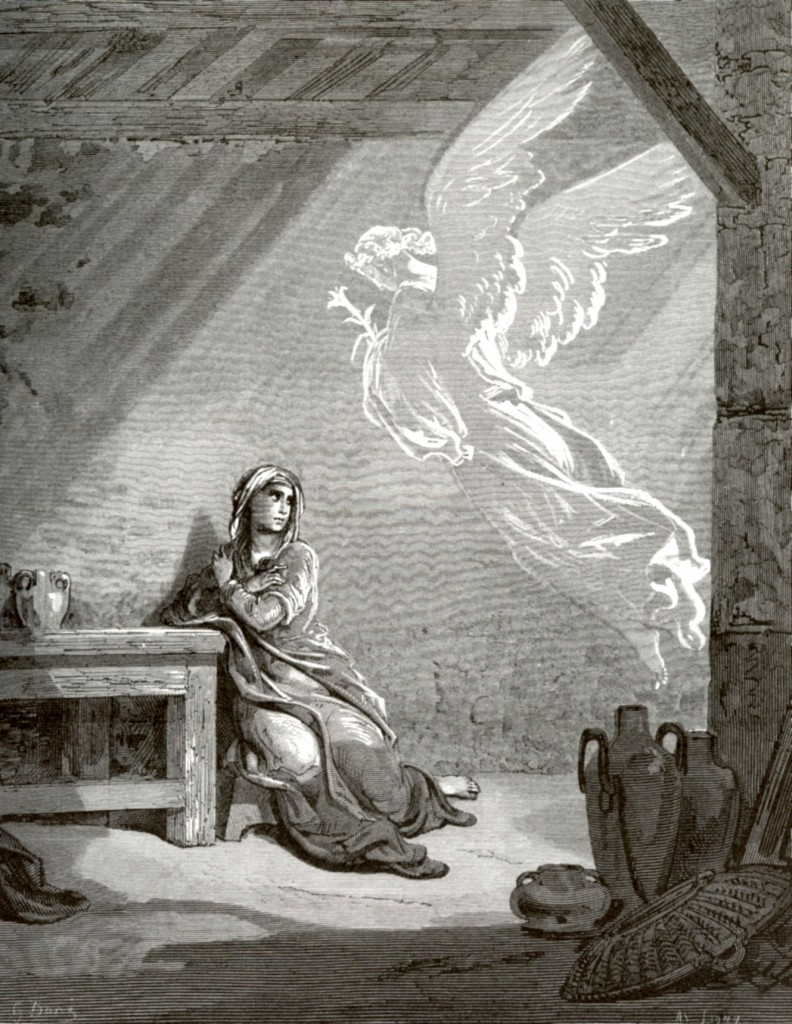 Архангел Гавриил благовествует Деве Марии