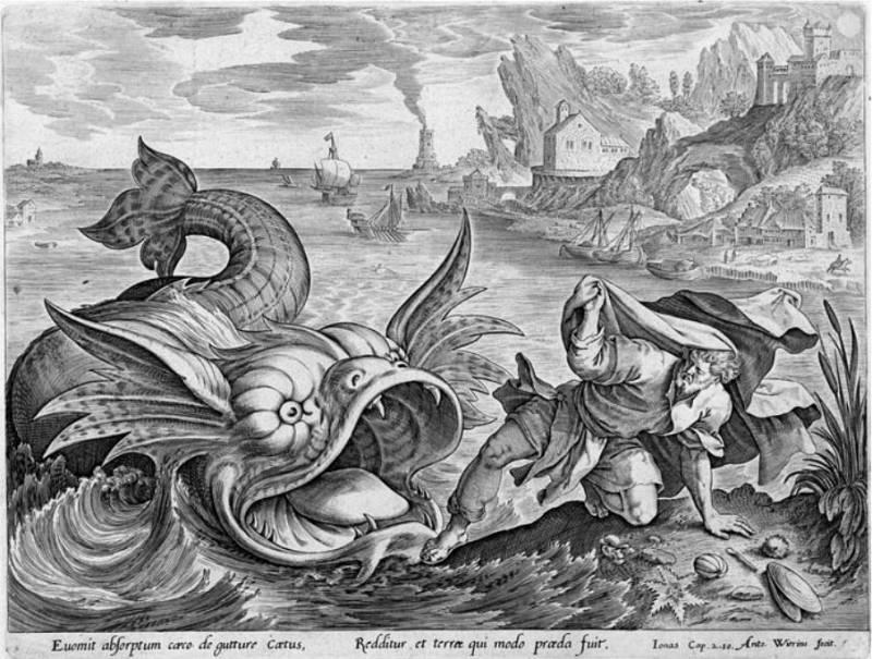 Пророк Иона и Кит. Антоний Виерикс.