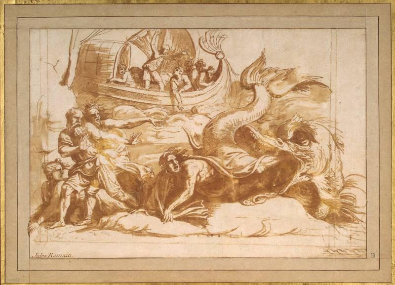 Пророк Иона и кит. Джулио Пиппи.