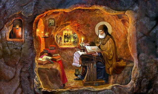 келья монаха фото