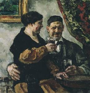 Пётр Кончаловский и Ольга Сурикова