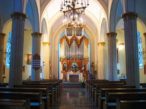 богослужение с органом