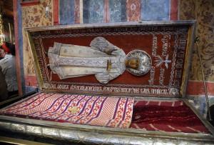 Святые мощи Царевича Димитрия почивают в Архангельском соборе Московского