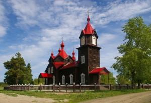 Моя Сибирь. Церковь Серафима Саровского в Турнаево