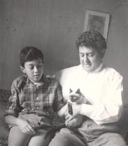 Виктор Драгунский с сыном Дениской