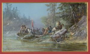 Сибирские казаки у проведывания новых землиц. Н. Н. Каразин