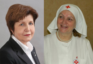Ляля Габбасова и Ольга Егорова