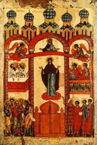 Иконография праздника Покрова Пресвятой Богородицы