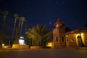 Молитва ночью среди пустыни. Православные монахи в американской Аризоне