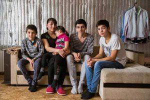 Помощь деревенской многодетной семье