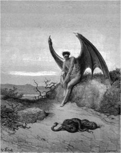 Иллюстрации Гюстава Доре Сатана и Змей