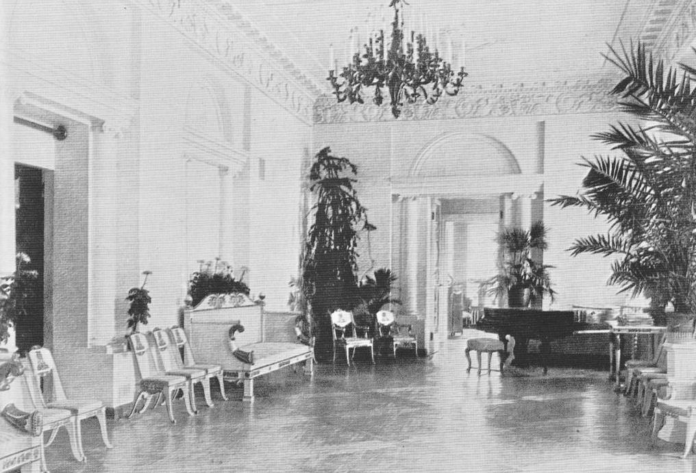 Усадьба Черёмушки. Парадный зал главного дома