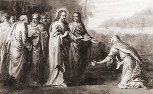 А.Стетч. Иисус и хананеянка. 1689-1696.