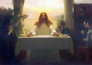 Христос и ученики в Эммаусе